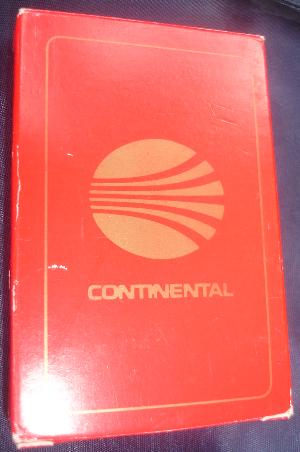 Continental Airlines Cards - Red