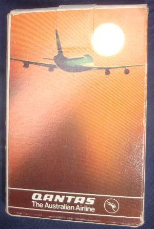 Qantas Cards orange sunset